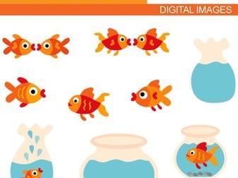 Goldfish clip art - aquarium clipart