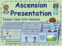 Jesus rises into heaven (ascension) presentation - RE