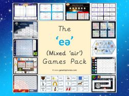 The Mixed 'eə' (air) Phonics Games Pack