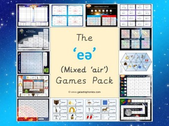 The Mixed 'eə' (air) Phonics Games Pack
