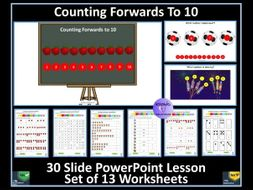 Counting to 10: PowerPoint Lesson and Worksheets - White Rose Maths