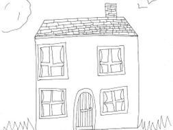 House Colouring Page