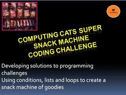 Coding Challenge - Computing Cats Super Snack Machine