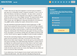 Ape Talk - Interactive Exercise - Year 6 Reading Comprehension (Non-fiction)