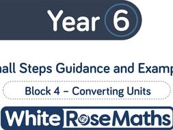 Year 6 White Rose Spring Block 4 Converting units.