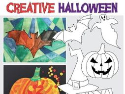 Halloween Art Activities and Colouring Pages