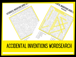 Accidental Inventions wordsearch | KS1 KS2