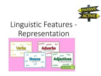 A Level English Language Linguistic Representation