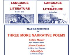 Language for Literature and Three More Narrative Poems 3 SoW Bundle