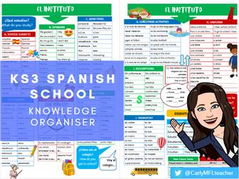 KS3 Spanish School Topic Knowledge Organiser