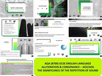 AQA 8700 English Language - Repetitive Language Features