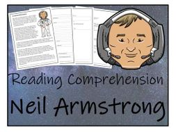 UKS2 History - Neil Armstrong Reading Comprehension Activity