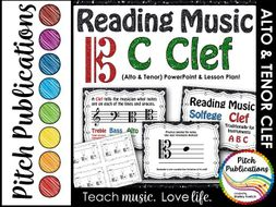 C Clef (Alto Clef and Tenor Clef) Presentation & Exit Ticket-Lesson Plan