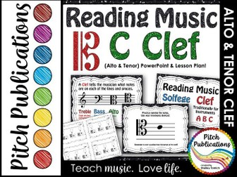C Clef (Alto Clef and Tenor Clef) Presentation & Exit Ticket-Lesson Plan
