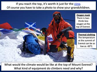 Investigating mountain climates - KS2