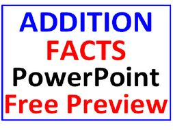 Addition Facts PowerPoint One FREE PREVIEW