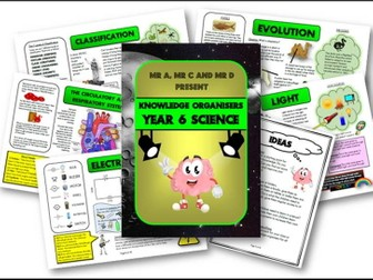 Year 6 Science Knowledge Organisers and Cheat Sheets - Mr A, Mr C and Mr D Present