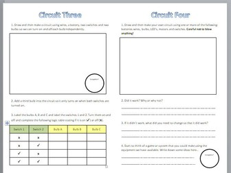 Building Electrical Circuits Practical Worksheet