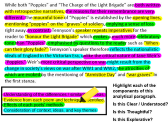 Power & Conflict Poetry SoW: Comparative lessons