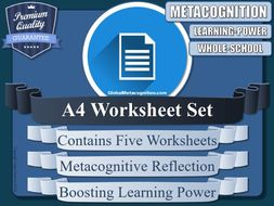 Metacognition Personal Reflection Worksheets(A4 x5) [Metacognitive Tool - 7/20]