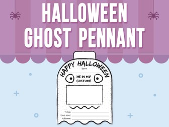Halloween - Pennant / Banner - Version 1 Ghost