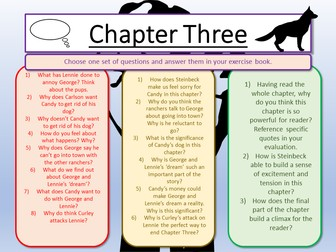 Of Mice and Men Chapter Three and Creative Writing