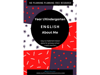 Supply Teaching Lesson Plan Year 1 English