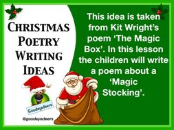 Poetry Ideas  for Christmas - The Magic Stocking