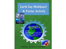 Fun Facts about Earth Day WebQuest & Poster Activity