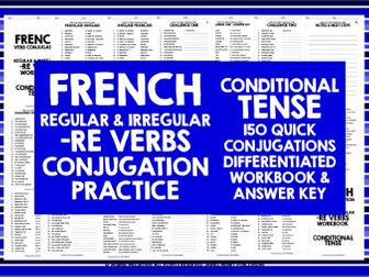 FRENCH -RE VERBS CONDITIONAL TENSE