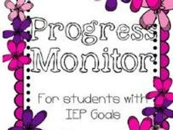Progress Monitor Sheets