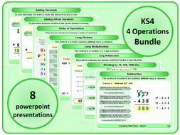KS4 4 Operations BUNDLE