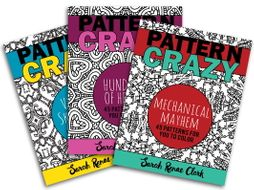 Pattern Crazy: Adult Coloring Book Bundle | 3 coloring books, 150 pages total