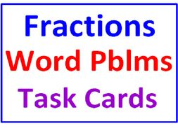 Fractions Word Problems Task Cards WITH Lesson Plan