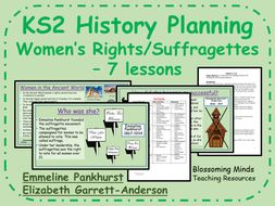 Suffragettes - Women's Rights - 7 lesson plans - Women's History Month