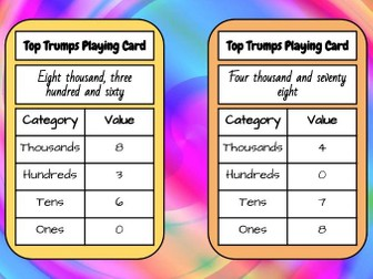 Top Trumps Maths Game