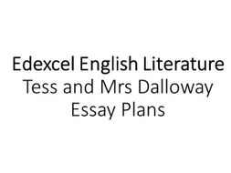 Essay On English Teacher Alevel English Lit  Tess And Mrs Dalloway Essay Plans Cause And Effect Essay Topics For High School also Argumentative Essay Thesis Example Alevel English Lit  Tess And Mrs Dalloway Essay Plans By  Mental Health Essay