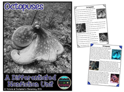 Differentiated Nonfiction Unit: Octopuses