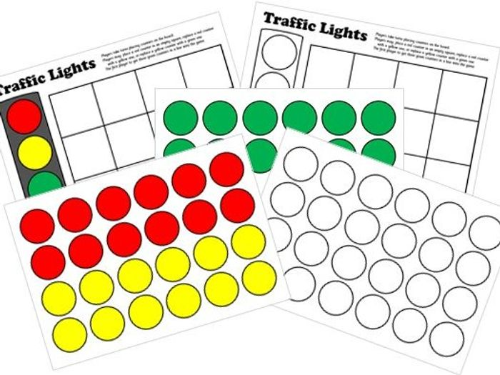 picture relating to Board Game Printable known as Targeted traffic Lighting Board Sport - Printable Interactive ActivInspire Designs