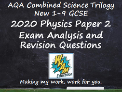 AQA Combined Science Trilogy Physics Paper 2 Revision and 2020 Exam Support