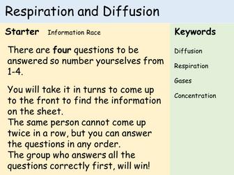 KS3 Cells - Lesson 9&10 - Respiration & Diffusion