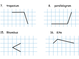 Completing quadrilaterals on a square background