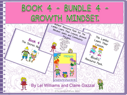 Book 4 - Bundle 4 - Growth Mindset – The Secret Recipe, Bloom's Resource Pack, Bumper Book 4 Resource Pack (including Comprehension Questions) & Poster by The World Of Whyse.