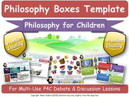 [The Philosophy Boxes Method] TEMPLATE for Creating your own 'Philosophy Boxes' lessons [P4C, P4K]