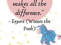 Disney positive quote posters