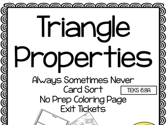 Triangle Properties Always Sometimes Never