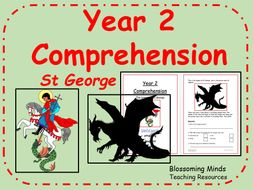 SATs style comprehension - St George's Day - Year 2