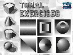 TONAL EXERCISES - Shading and Basic Form Worksheet