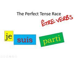 Perfect Tense Card Race - être verbs