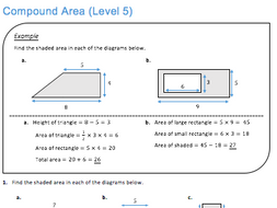 Compound Area (Level 5) by JDStrauss - Teaching Resources - Tes